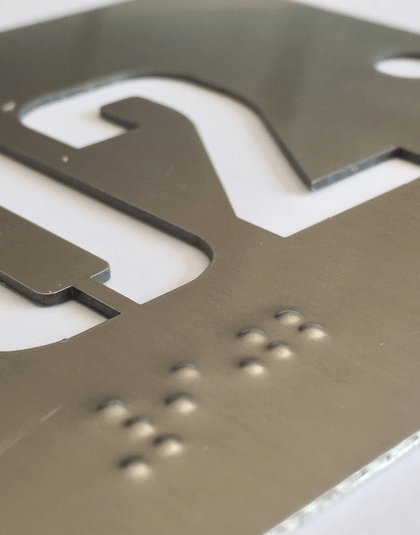 Señalización o Señalética Braille